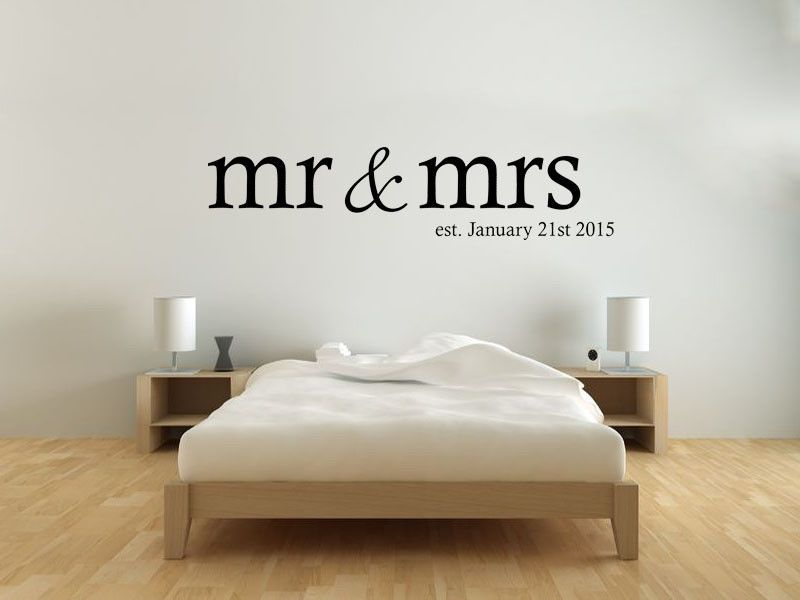Awesome ... Bedroom Quotes Mr U0026 Mrs Wall Art Sticker, Personalised Date, Modern  Transfer, Bedroom Quotes Variant Attributes